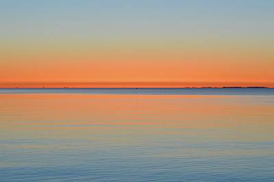 Photograph - Morning Blues And Orange  by Lyle Crump