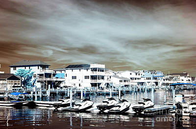Photograph - Morning Jet Skis Infrared by John Rizzuto