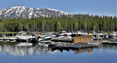 Photograph - Morning Boats On Colter Bay Wyoming by Dan Sproul