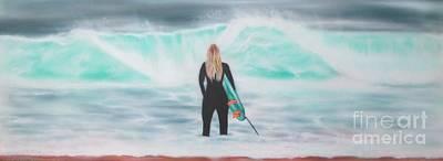 Bondi Painting - Morning Bondi by Colin O neill