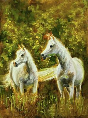 Painting - Morning Breeze Twins by Melissa Herrin