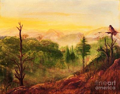 Smokey Mountains Painting - Morning Bright by Sharon Eng