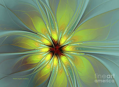 Digital Art - Morning Burst by Deborah Benoit