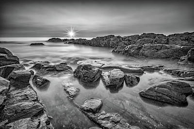 Photograph - Morning Calm On Marginal Way In Black And White by Rick Berk