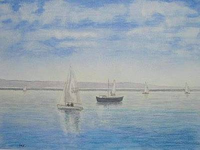 Painting - 'morning Calm' - West Kirby Marine Lake by Peter Farrow