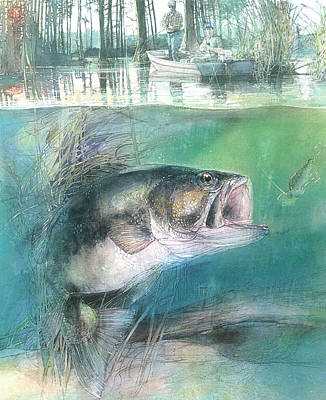 Painting - Morning Catch by John Dyess