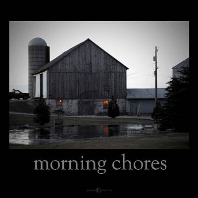 Photograph - Morning Chores by Tim Nyberg