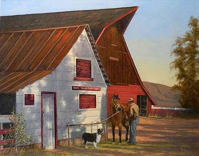 Painting - Morning Chores by Paul K Hill