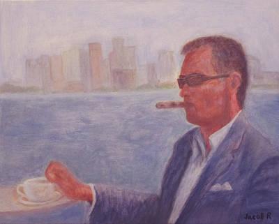 Morning Cigar In Jaffa Original by Jacob R