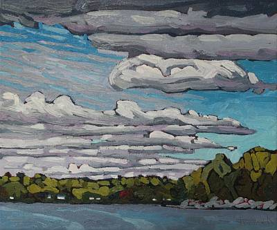 Painting - Morning Cloud Story by Phil Chadwick