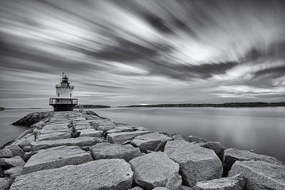 Photograph - Morning Clouds At Spring Point Ledge by Jesse MacDonald