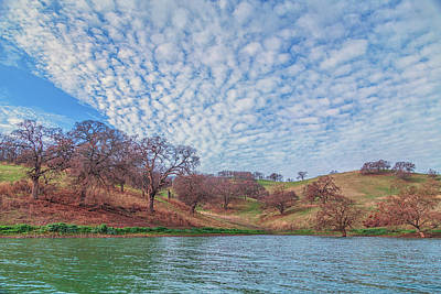 Photograph - Morning Clouds Over Shoreline by Marc Crumpler