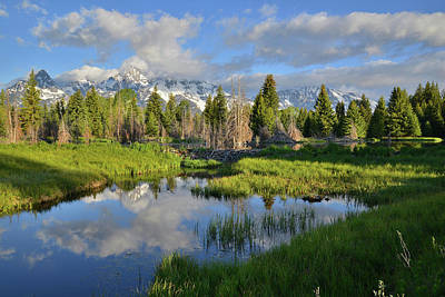 Photograph - Morning Clouds Over Tetons by Ray Mathis