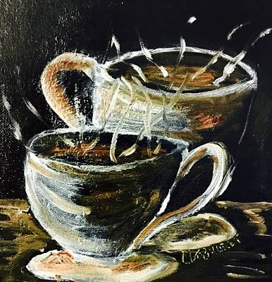 Painting - Morning Coffee  by Chuck Gebhardt