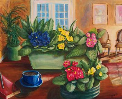 Painting - Morning Coffee by Dana Redfern