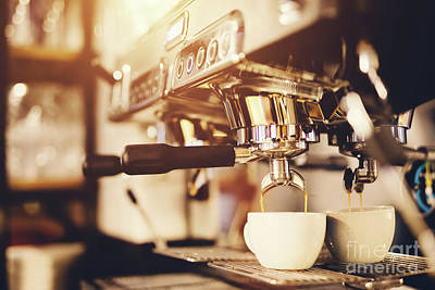 Photograph - Morning Coffee Preparation. Coffeemaker. by Michal Bednarek