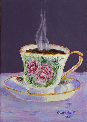 Drawing - Morning Coffee by Quwatha Valentine