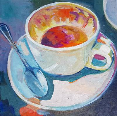 Painting - Morning Coffee by Stephanie  Maclean