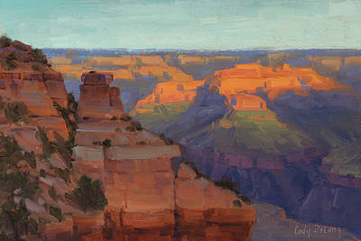 Arizona Painting - Morning Color - Yaki Point by Cody DeLong