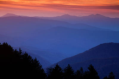 Morning Colors In The Smokies Art Print by Andrew Soundarajan