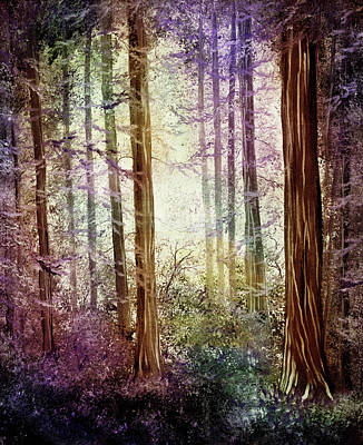 Painting - Morning Colors On The Redwoods by Laura Iverson
