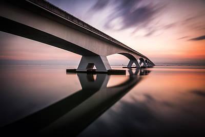 Bridge Photograph - Morning Colors by Sus Bogaerts