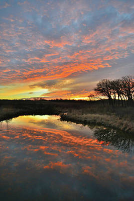 Photograph - Morning Comes To Glacial Park And Nippersink Creek by Ray Mathis