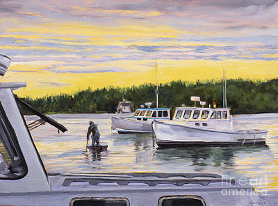 Painting - Morning Commute by Lynne Schulte