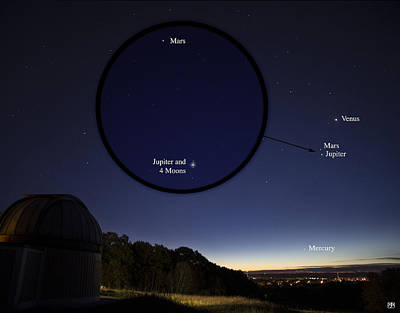 Photograph - Morning Conjunction by John Meader