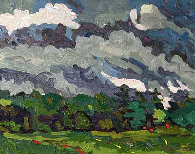 Storm Clouds Painting - Morning Convection by Phil Chadwick