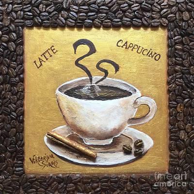Pallet Knife Painting - Morning Cup Of Coffee by Viktoriya Sirris