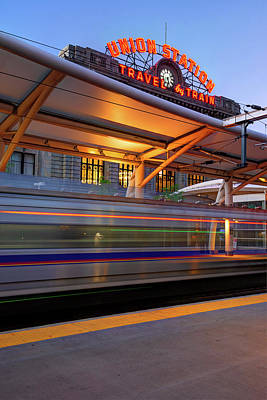 Photograph - Morning Departure At Union Station In Denver Lodo District by Gregory Ballos