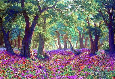 Colourful Flowers Painting - Morning Dew by Jane Small