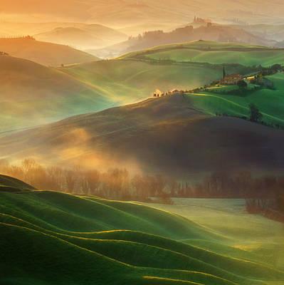 Tuscany Photograph - Morning Dreams by Krzysztof Browko