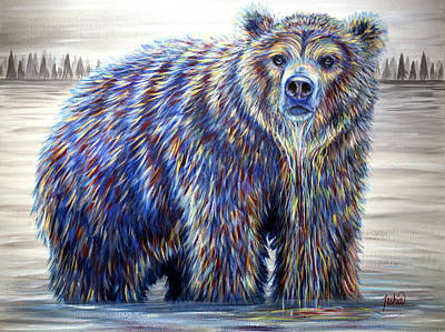 Kodiak Painting - Morning Drink by Teshia Art