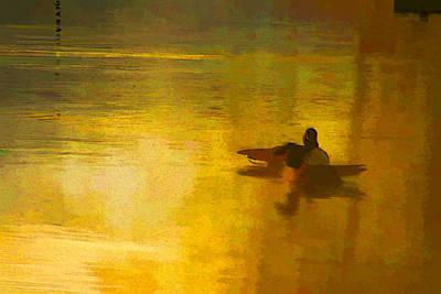 Digital Art - Morning Ducks by Ches Black
