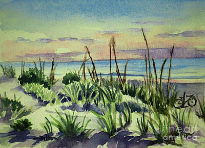 Morning Dunes  7-7-2017 Art Print