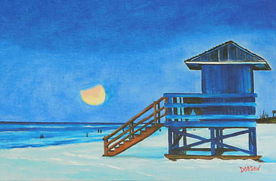 Painting - Morning Eclipse On Siesta Key by Lloyd Dobson
