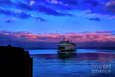 Photograph - Morning Ferry by Rick Bragan