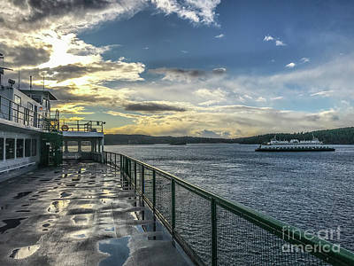 Photograph - Morning Ferry by William Wyckoff