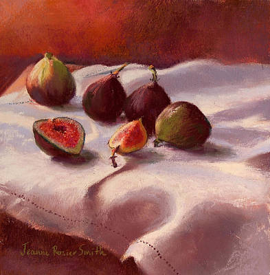 Morning Figs Art Print by Jeanne Rosier Smith