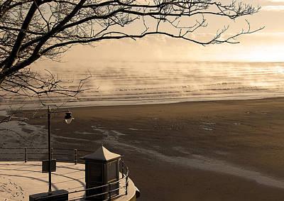 Morning Filey Beach Art Print by Svetlana Sewell