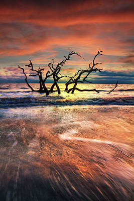 Photograph - Morning Fire by Debra and Dave Vanderlaan
