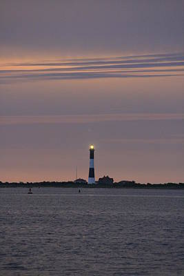 Morning Flash Of Fire Island Light Art Print