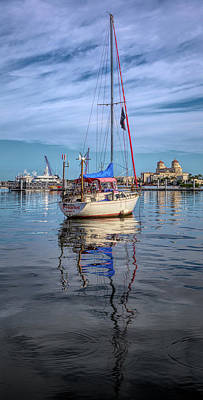 Photograph - Morning Float In Hdr Detail by Debra and Dave Vanderlaan