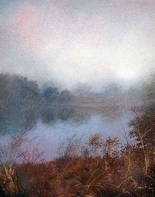 Art Print featuring the painting Morning Fog by Andrew King