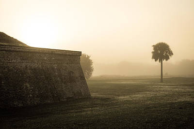 Photograph - Morning Fog At Fort Moultrie  by Donnie Whitaker