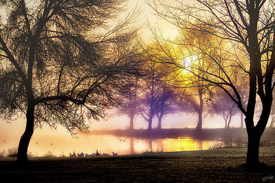 Photograph - Morning Fog At Lakeside by Dee Browning