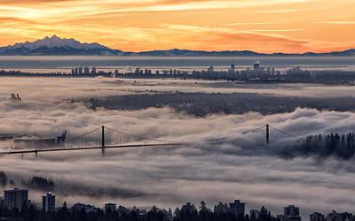 Morning Fog Art Print by DGS Full Spectrum Photography
