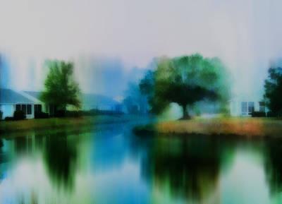 Digital Art - Morning Fog In Sun City by Frank Bright
